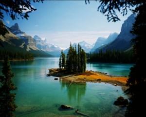 Spirit Island, Maligne Lake, by Allan W King, courtesy Travel Alberta