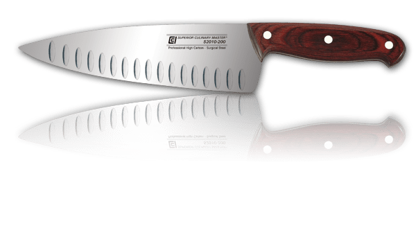 "8"" Chef's Knife, Granton and Wide Blade"