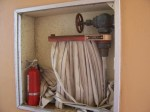 More damaged fire hose cabinets