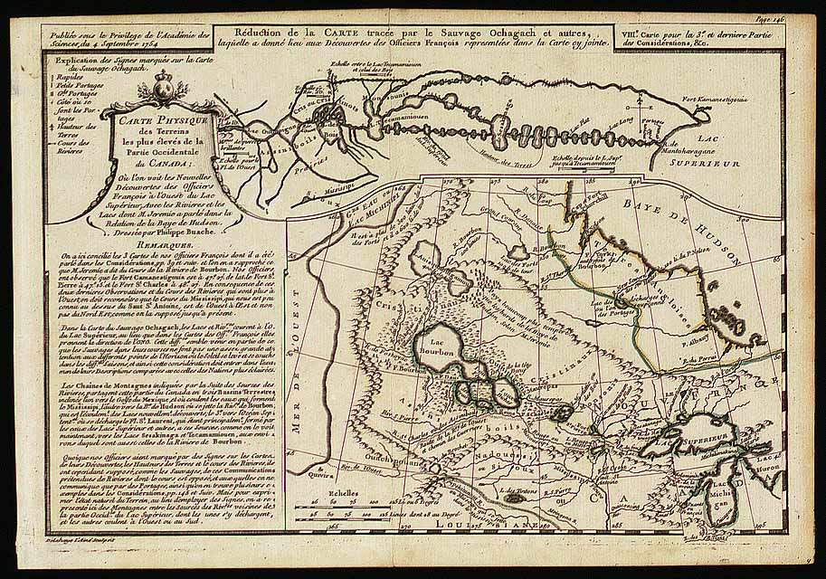 Carte West Canada.Two Maps In One Philippe Buache On Western Canada All