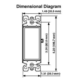 Leviton 5601P2W Rocker Switch Decora SinglePole 15 Amp 120277