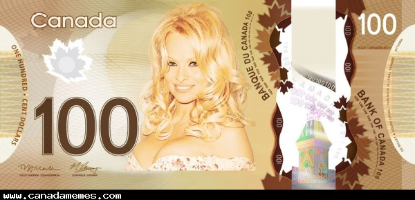 So we took a poll and decided to put Pamela Anderson on our $100 bill