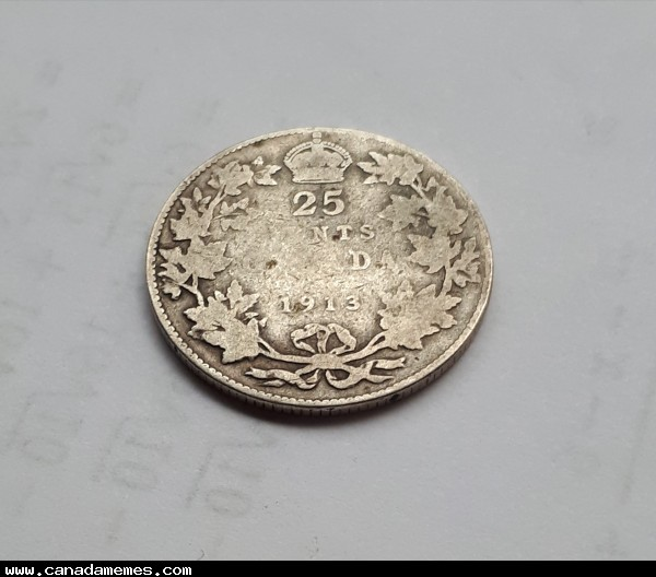 104 Year old Canadian quarter