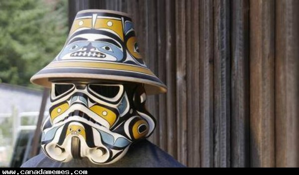 Comox First Nation artist Andy Everson has put his own unique Indigenized stamp on Star Wars costumes
