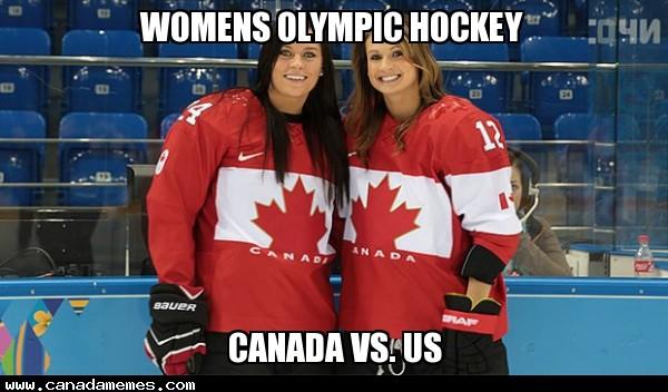 Womens Olympic Hockey - Canada Vs. US - GO CANADA!!!