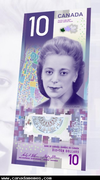 The new Canadian $10 bill with Viola Desmond - What do you think?