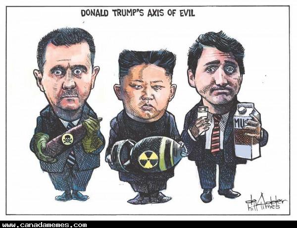 Donald Trumps Axis of Evil