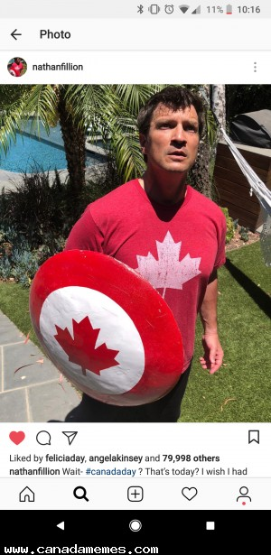 Nathan Fillion being very Canadian
