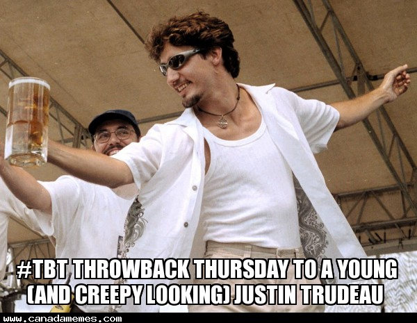 #TBT Throwback thursday to a young and creepy Justin Trudeau