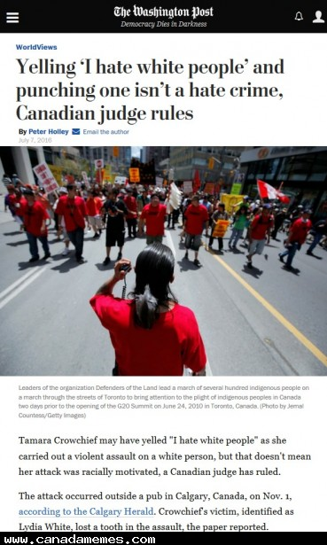 🇨🇦 Uh, What? Hate is hate regardless of the skin colour!