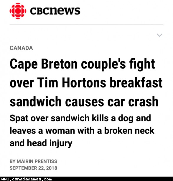 🇨🇦 Who fights over a timmies breakfast sandwich???
