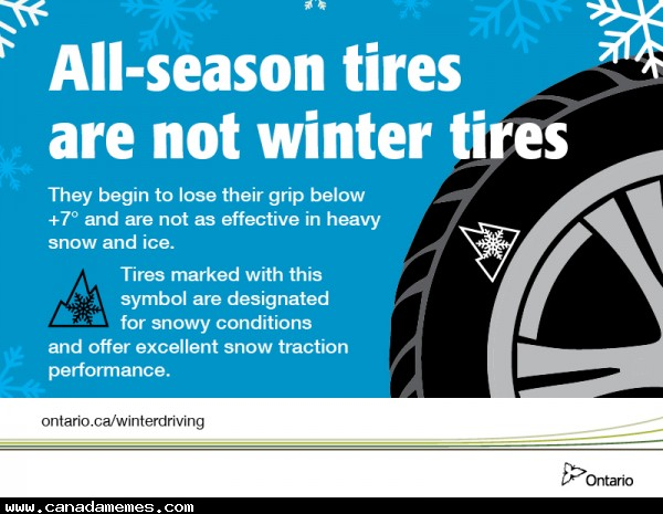 🇨🇦 PSA - All season tires are not winter tires