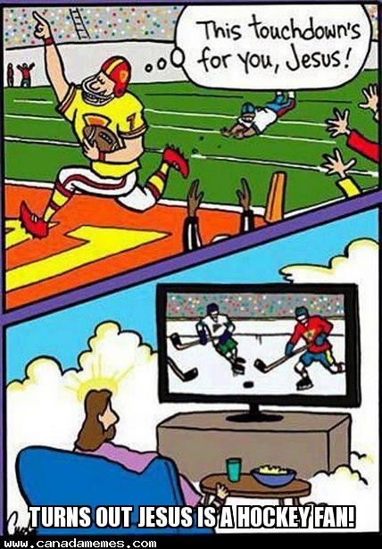 🇨🇦 Turns out Jesus is a Hockey fan!
