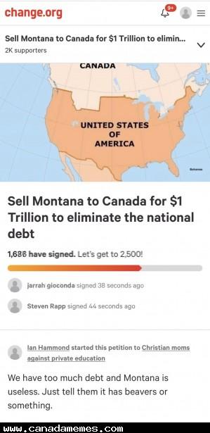 🇨🇦 Come to Canada, Montana!