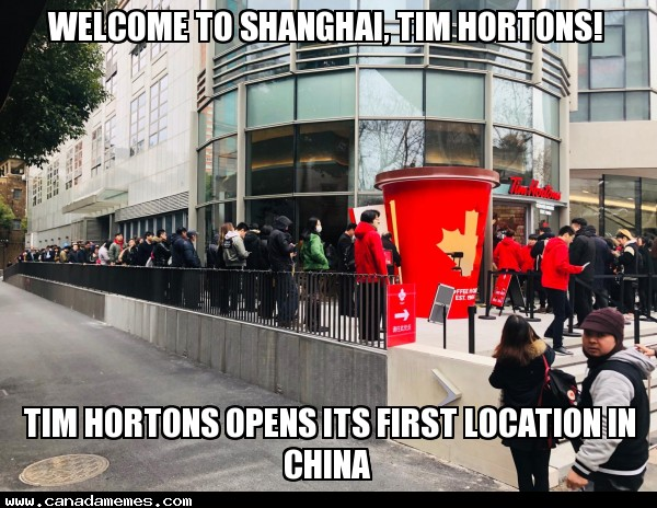 🇨🇦 Welcome to Shanghai, Tim Hortons!