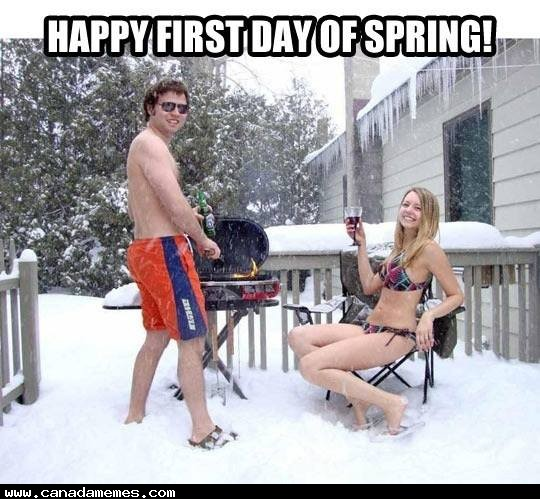 🇨🇦 Happy First Day of Spring! Get Grilling!