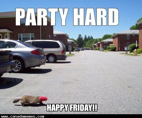 🇨🇦 Happy Friday Canada! Party Hard!