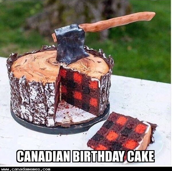 🇨🇦 Canadian Birthday Cake