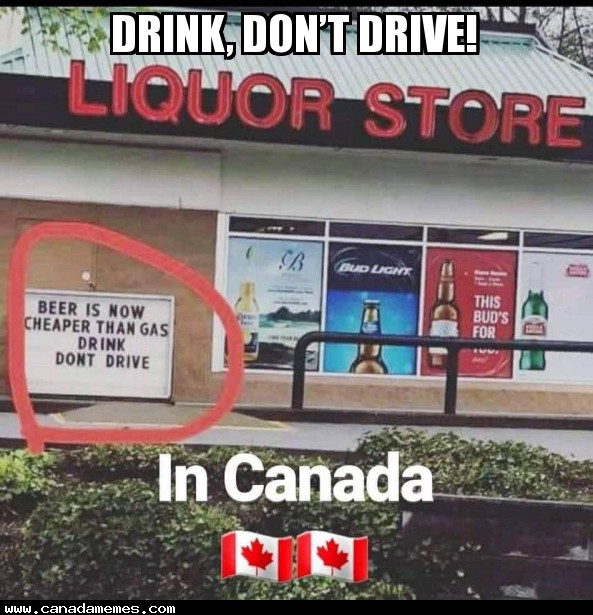 🇨🇦 Drink, don't drive!