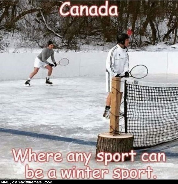 🇨🇦 Any sport can be a winter sport if you're brave enough