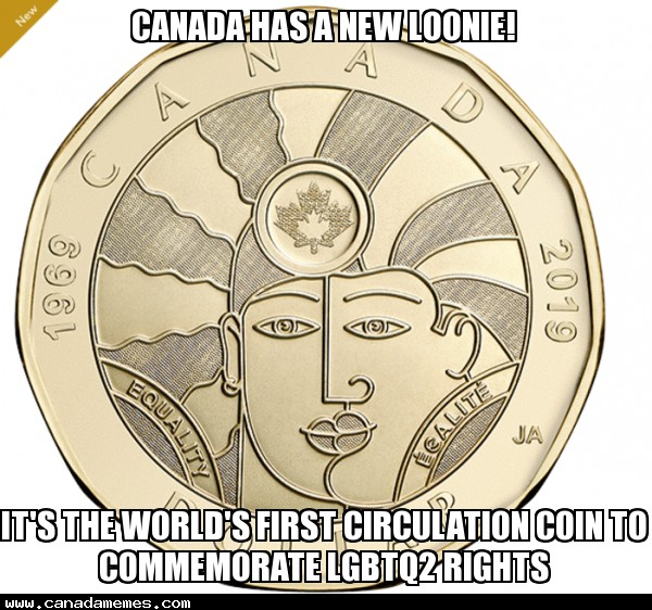 🇨🇦 Canada has a new coin to commemorate the LGBTQ2 rights