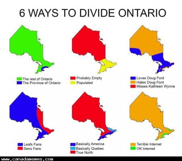 🇨🇦 Six ways to divide Ontario