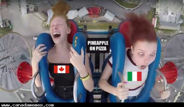 🇨🇦 Pineapple on pizza in Canada vs Italy