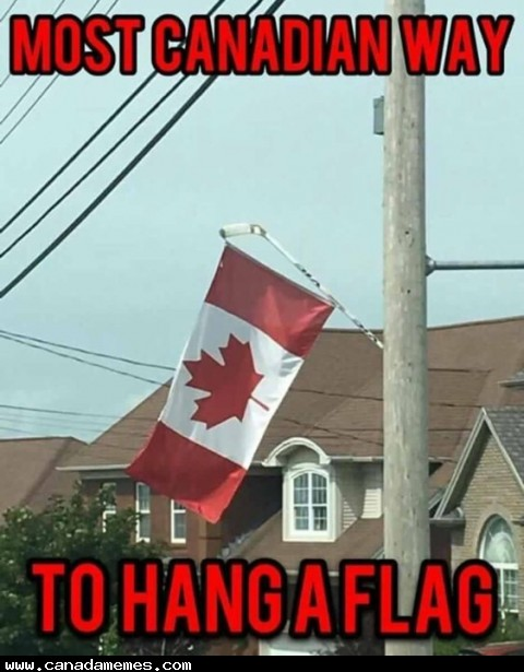 🇨🇦 The only way to hang the Canadian flag