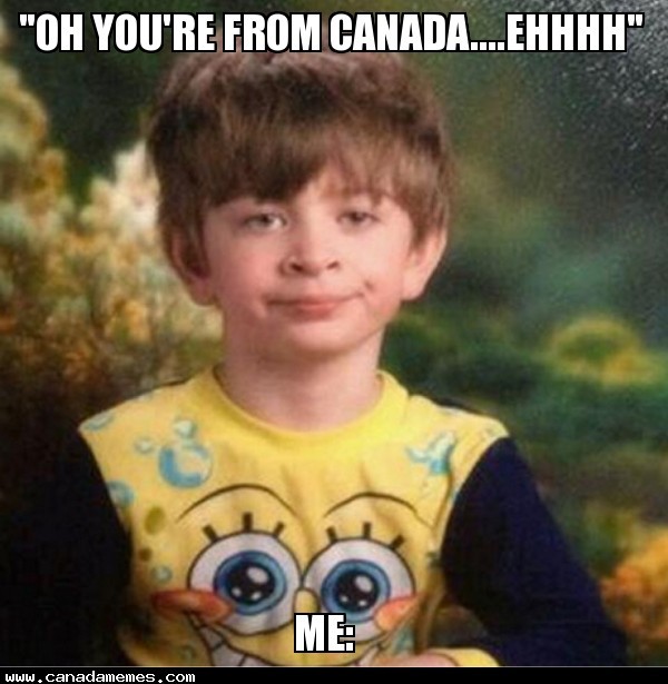 🇨🇦When Non-Canadians realize i'm from Canada