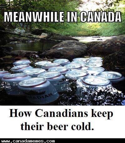 🇨🇦 How Canadians keep their beer cool in summer