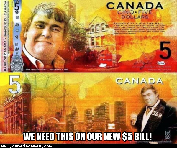 🇨🇦 We need this on our new $5 bill!