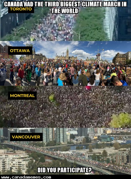 🇨🇦 Canada had the third biggest climate march in the world. Did you participate?