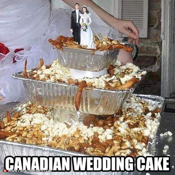 Canadian Wedding Cake