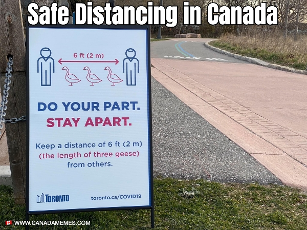 Safe Distancing in Canada