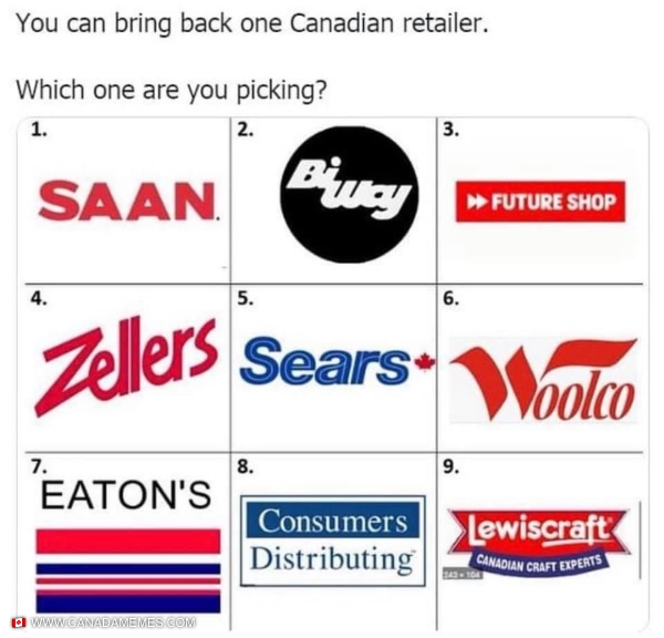 Which Canadian retailer would you bring back?
