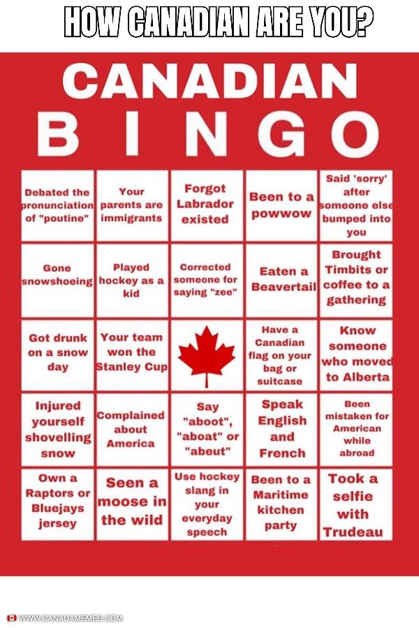 Canadian BINGO
