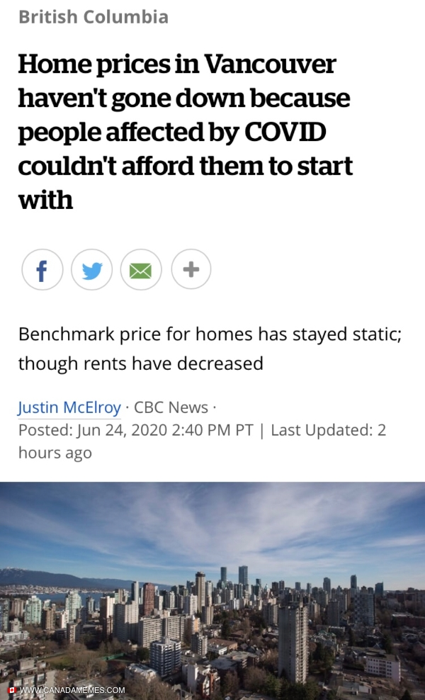 Sad but true in Vancouver