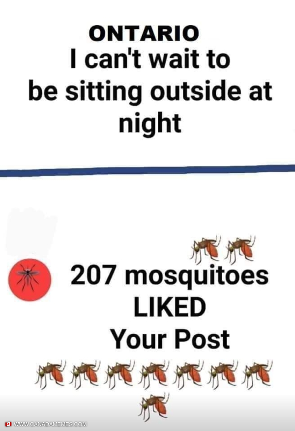 207 mosquitoes liked your post