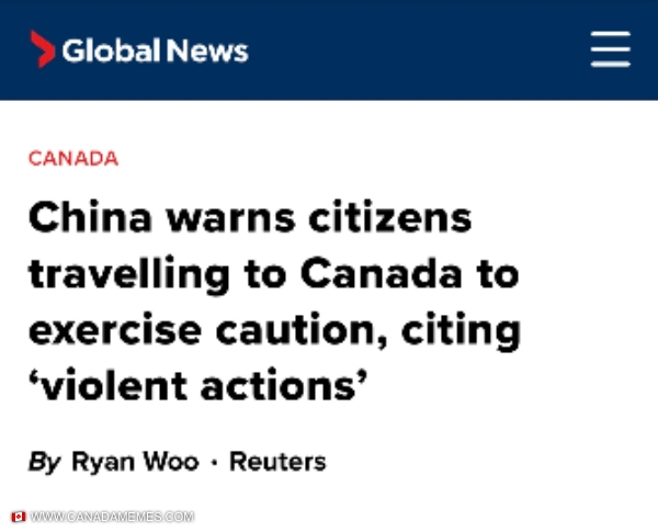 Because China is really safe right now...