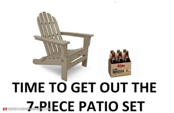 Wife asked me to pick up a 7 piece patio set...