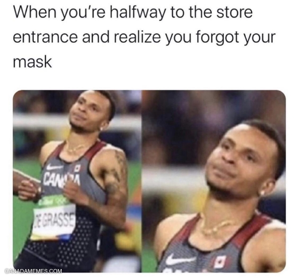 Don't forget your mask!