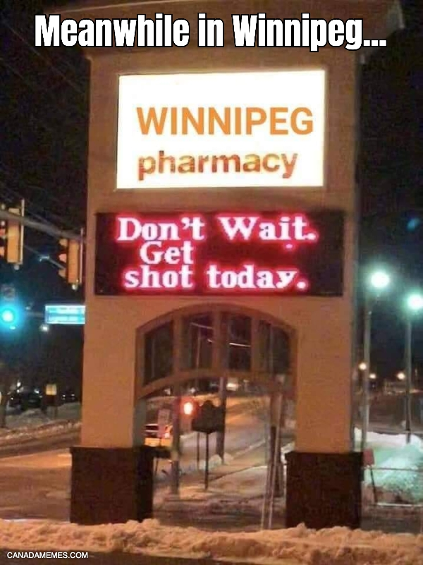 Meanwhile in Winnipeg...