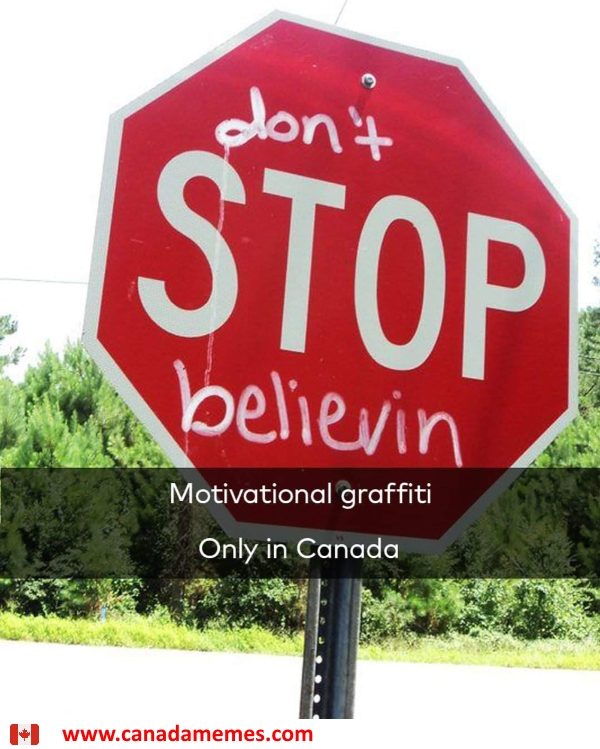 If you're going to vandalize, at least make it uplifting like this!