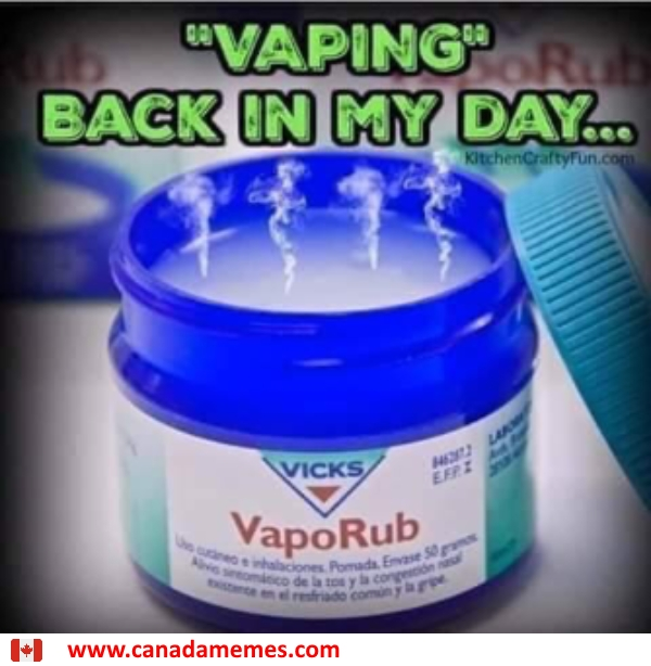 This was how we vaped back in my day
