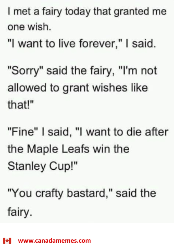 The Fairy and The Toronto Maple Leafs