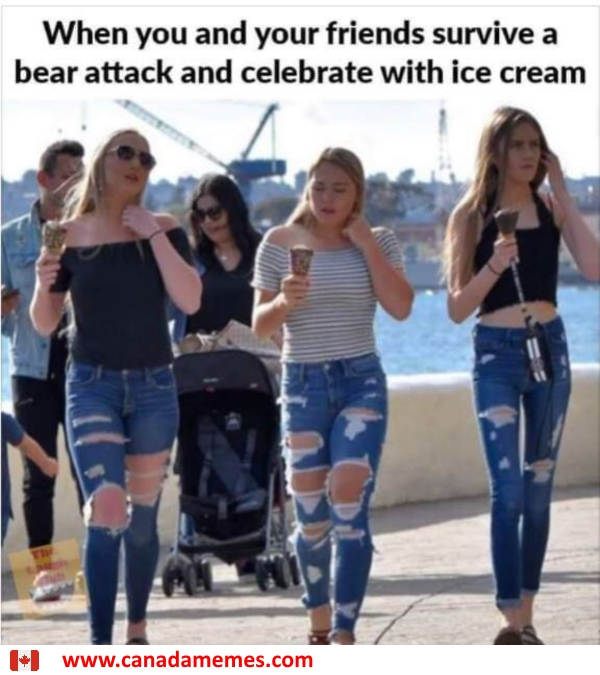 What better way to celebrate a bear attack than ice cream?