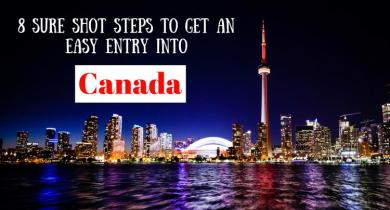 Steps to get entry into Canada