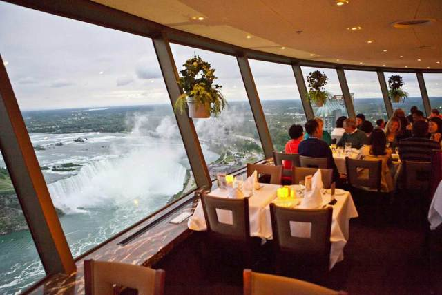 niagara fall view from Skylon Tower