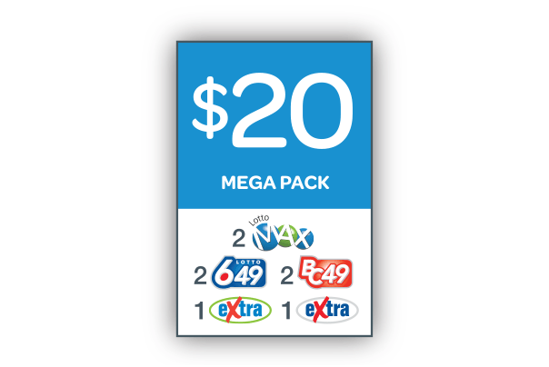 $20 Mega pack of lotteries in Canada