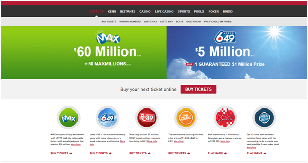 Canadian lotteries to play at playnow